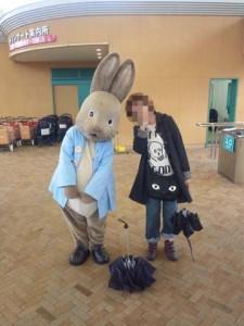 奥さんとウサギ