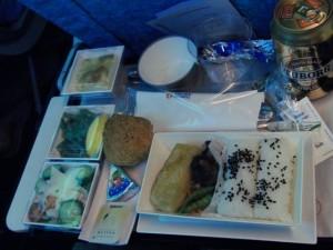 機内食1食目トウフ