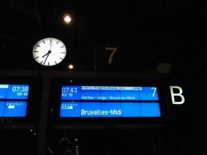 行き先はブリュッセル