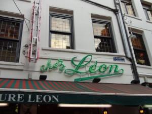 お昼を食べたシェ・レオンさん